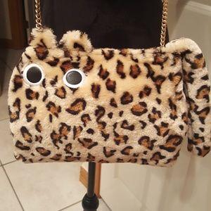 Forever 21 Leopard Print Cat Crossbody NWOT
